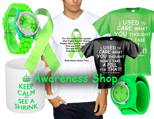 Clothing, wristbands, badges and other awareness items at low prices